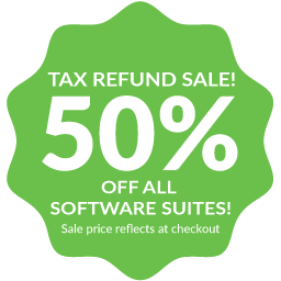 Tax Refund Sale! 50% off all software suites through May 25th